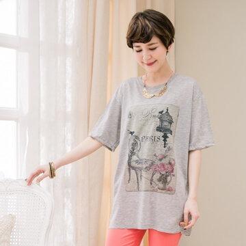 §獨具衣格§泰國連線G6551純棉五款可愛圖案印花棉質上衣-大尺碼
