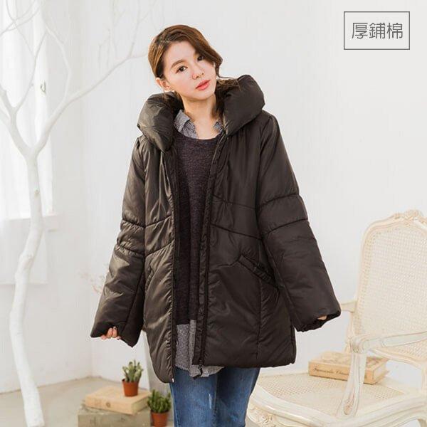 §獨具衣格§ 日本直送 G8487 冬必備拉鍊舖棉外套大衣-大尺碼