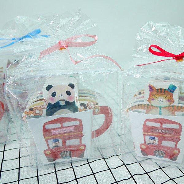 §獨具衣格§ 日本直送 H223 日本超可愛 送禮 動物圖案掛式茶包(盒裝)(一盒5入)