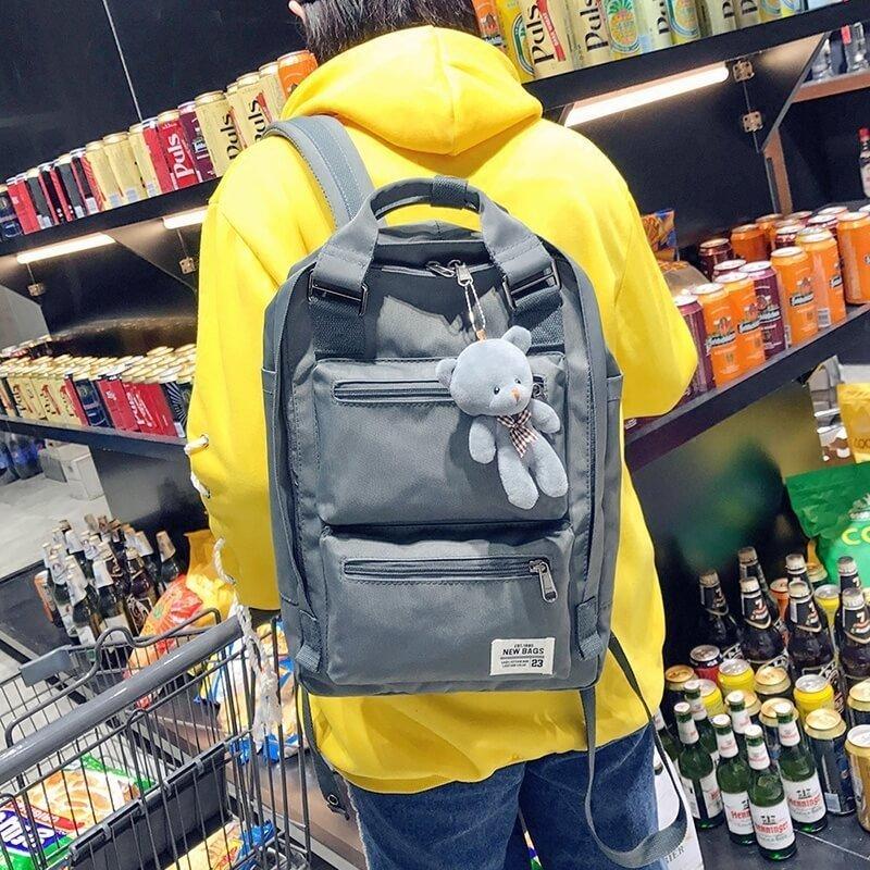 §獨具衣格§ H260 韓 防水尼龍 方型後背包 電腦包