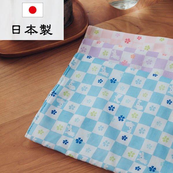 §獨具衣格§ 日本直送 H295 日本製 純綿長型毛巾 格紋兔子