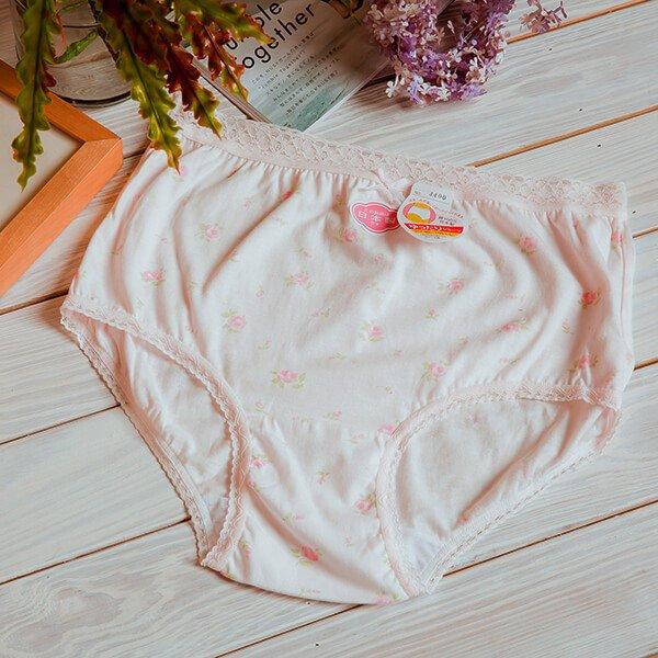 §獨具衣格§ H306 日本製純棉小碎花蕾絲滾邊內褲