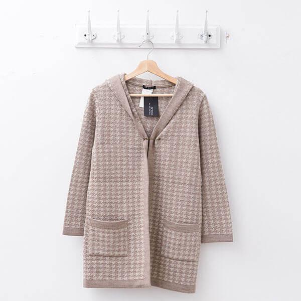§獨具衣格§ 日本直送 2107 日本製 羊毛 千鳥格開襟外套樣本
