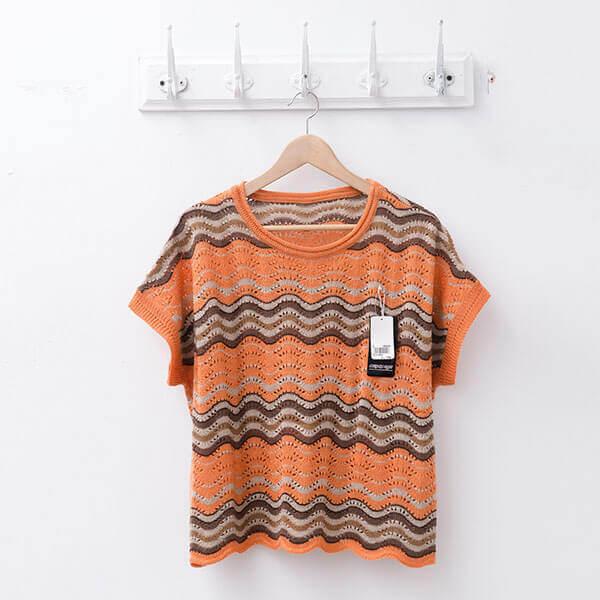 §獨具衣格§ 日本直送 2110 羊毛 波浪空花針織罩衫樣本