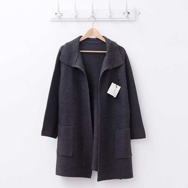 §獨具衣格§ 日本直送 2118 日本製 素面針織坑條外套樣本-大尺碼