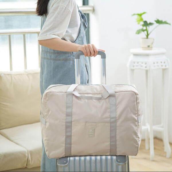 §獨具衣格§ H393 馬卡龍色系旅行袋 可放置行李箱上