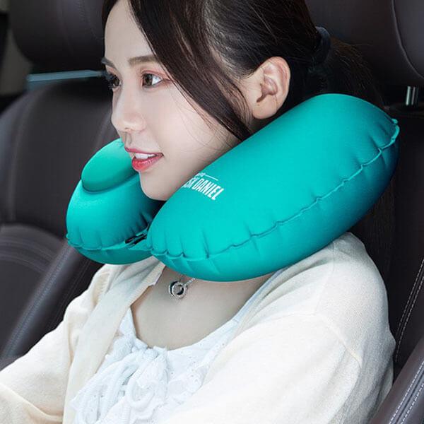 §獨具衣格§ H455 旅行必備 絲絨面料充氣頸枕